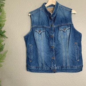 Vintage Levi Strauss Denim Vest Jean Jacket XL